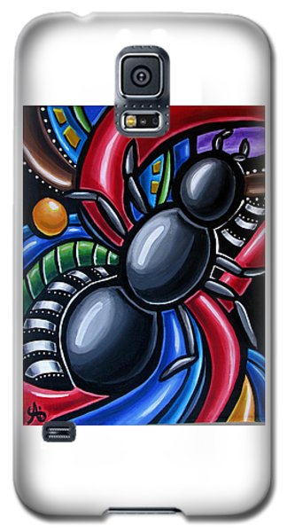 Antics - Abstract Ant Painting - Chromatic Acrylic Art - Ai P. Nilson Galaxy S5 Case