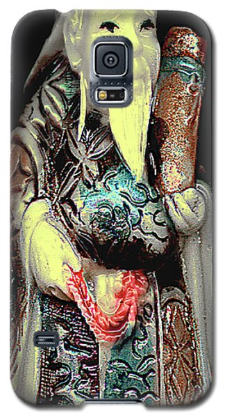 Antique Chinese Figurine - Man With Scroll Galaxy S5 Case by Merton Allen