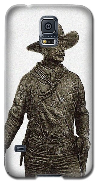 Galaxy S5 Case featuring the photograph Antique Cowboy Sculpture by Ellen O'Reilly