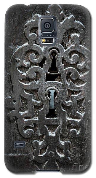 Galaxy S5 Case featuring the photograph Antique Door Lock by Elena Elisseeva