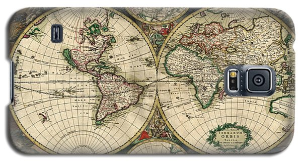 Antique Map Of The World - 1689 Galaxy S5 Case