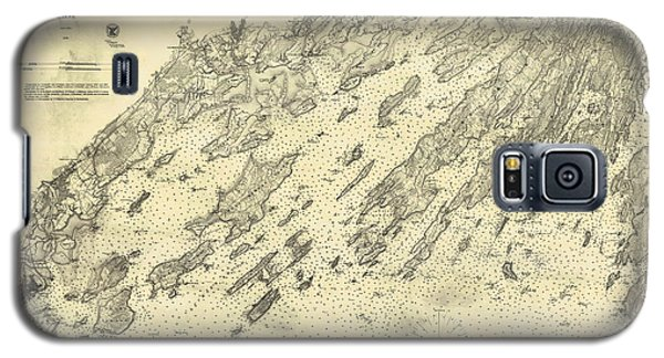 Antique Maps - Old Cartographic Maps - Antique Map Of Casco Bay, Maine, 1870 Galaxy S5 Case