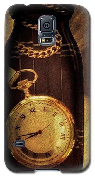 Antique Pocket Watch In A Bottle Galaxy S5 Case by Susan Candelario