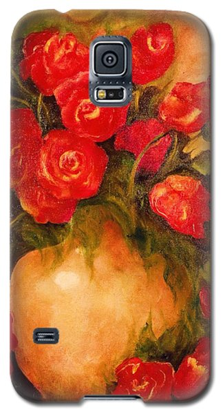 Antique Red Roses Galaxy S5 Case