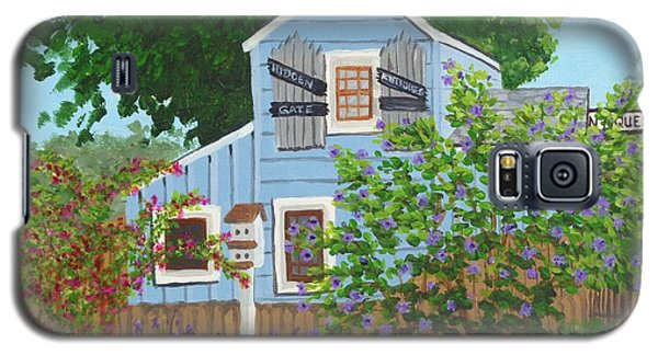 Galaxy S5 Case featuring the painting Antique Shop, Cambria Ca by Katherine Young-Beck