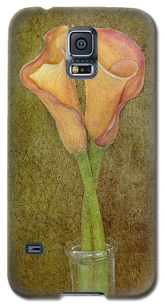 Antiqued Lilies Galaxy S5 Case