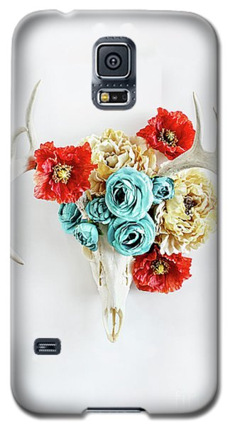 Galaxy S5 Case featuring the photograph Antlers And Florals by Stephanie Frey