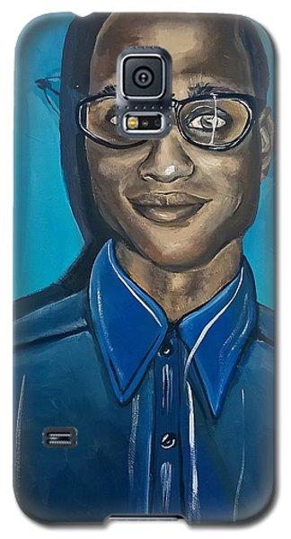 Smart Black Man Nerd Guy With Glasses Cartoon Art Painting Galaxy S5 Case