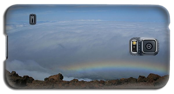 Anuenue - Rainbow At The Ahinahina Ahu Haleakala Sunrise Maui Hawaii Galaxy S5 Case
