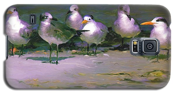 Galaxy S5 Case featuring the painting Any New Gossip by David  Van Hulst