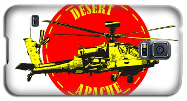 Apache On Desert Galaxy S5 Case