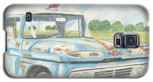 Galaxy S5 Case featuring the drawing Apache Out To Pasture by Arlene Crafton