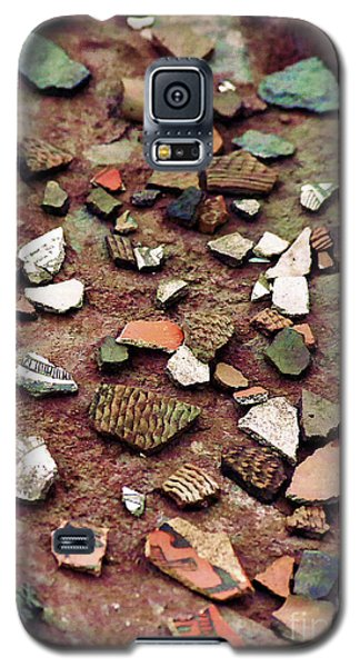 Galaxy S5 Case featuring the photograph Apache Pottery Shards by Juls Adams