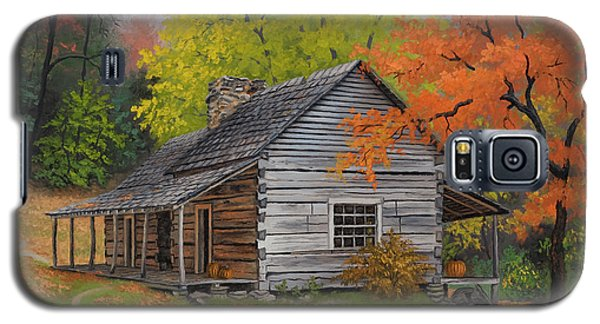 Galaxy S5 Case featuring the painting Appalachian Retreat-autumn by Kyle Wood