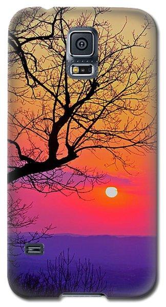 Appalcahian Sunset Tree Silhouette #2 Galaxy S5 Case
