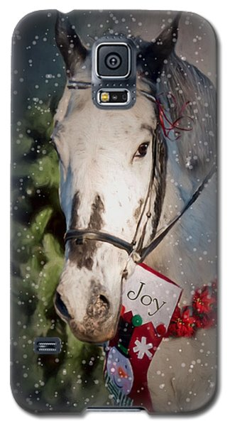 Galaxy S5 Case featuring the photograph Appaloosa Christmas by Robin-lee Vieira