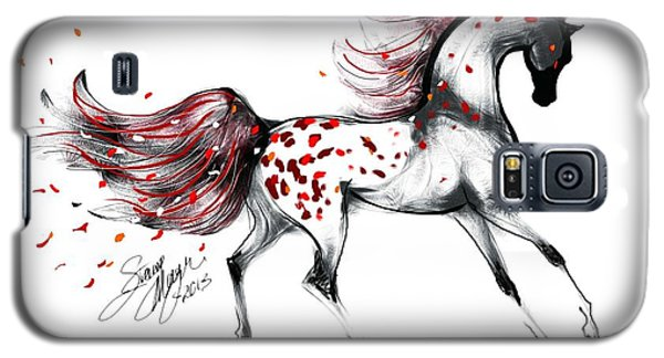 Appaloosa Rose Petals Horse Galaxy S5 Case by Stacey Mayer