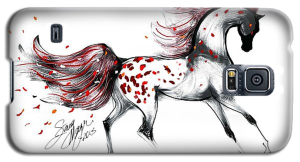 Appaloosa Rose Petals Horse Galaxy S5 Case