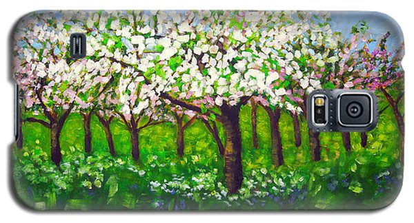 Apple Blossom Orchard Galaxy S5 Case