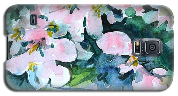 Galaxy S5 Case featuring the painting Apple Blossom Time by Len Stomski