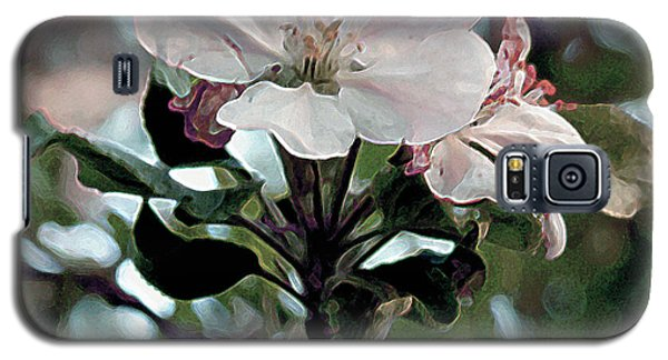 Galaxy S5 Case featuring the painting Apple Blossom Time by RC DeWinter