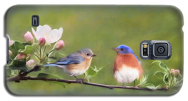 Apple Blossoms And Bluebirds Galaxy S5 Case