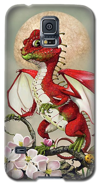 Galaxy S5 Case featuring the digital art Apple Dragon by Stanley Morrison