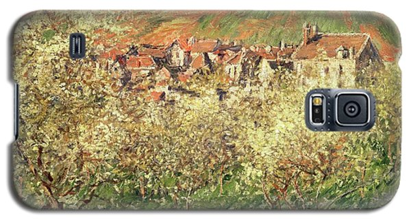 Apple Trees In Blossom Galaxy S5 Case by Claude Monet