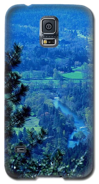 Galaxy S5 Case featuring the photograph Applegate River From On Top Of Bolt Mountain by Marie Neder