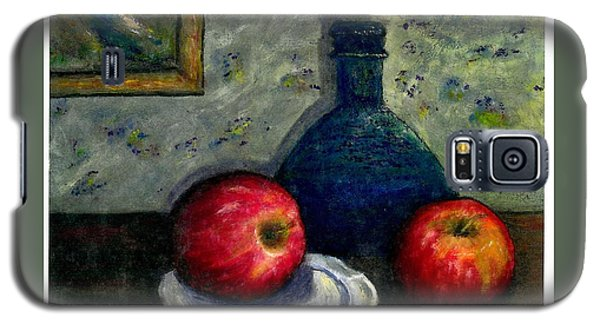 Galaxy S5 Case featuring the painting Apples And Bottles by Gail Kirtz