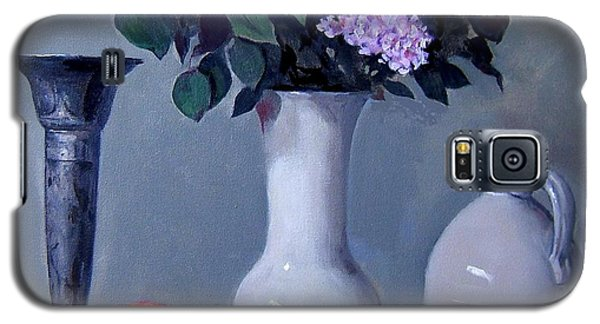 Apples And Lilacs, Silver Vase, Vintage Stoneware Jug Galaxy S5 Case