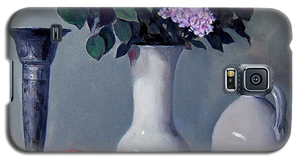 Apples And Lilacs,silver Vase,vintage Stoneware Jug Galaxy S5 Case