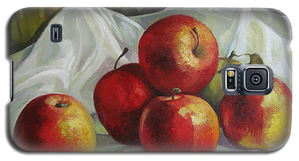 Galaxy S5 Case featuring the painting Apples by Elena Oleniuc
