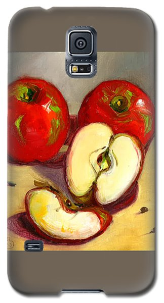 Galaxy S5 Case featuring the painting Apples by Susan Thomas