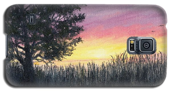 Galaxy S5 Case featuring the painting Approach To The Sea by Kathleen McDermott