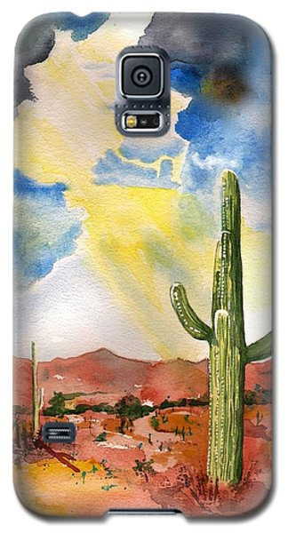 Galaxy S5 Case featuring the painting Approaching Monsoon by Sharon Mick