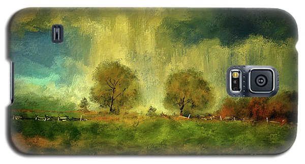 Galaxy S5 Case featuring the digital art Approaching Storm At Antietam by Lois Bryan