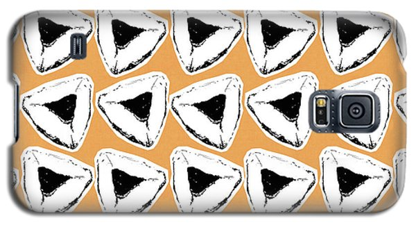 Galaxy S5 Case featuring the mixed media Apricot Hamentashen- Art By Linda Woods by Linda Woods
