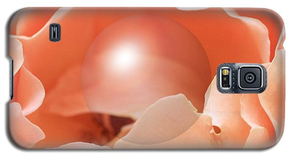 Apricot Rose With Sphere Galaxy S5 Case