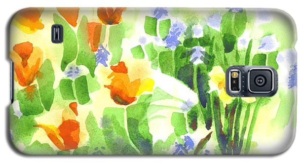 Galaxy S5 Case featuring the painting April Flowers 2 by Kip DeVore