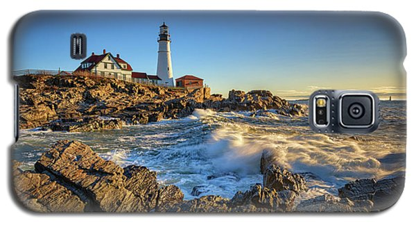 April Morning At Portland Head Galaxy S5 Case by Rick Berk