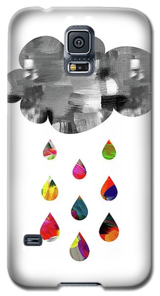 Galaxy S5 Case featuring the mixed media April Showers- Art By Linda Woods by Linda Woods
