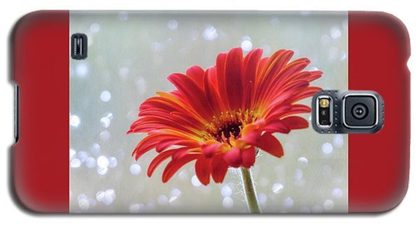 Galaxy S5 Case featuring the photograph April Showers Gerbera Daisy Square by Terry DeLuco