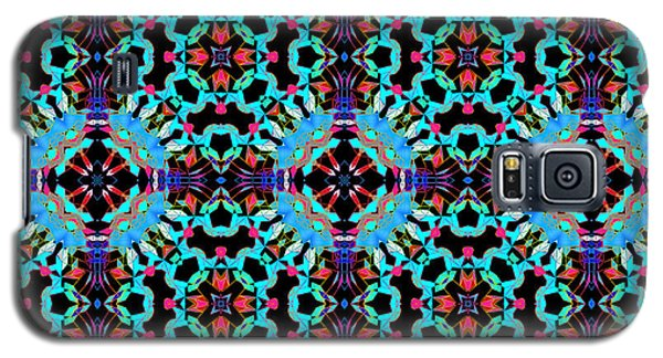 Aqua Geometric Mandala Galaxy S5 Case