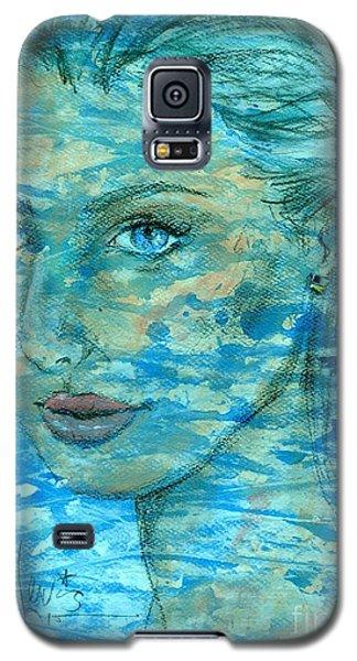 Aqua Galaxy S5 Case by P J Lewis