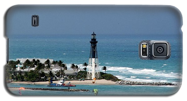 Galaxy S5 Case featuring the photograph Aqua Water At Hillsboro Lighthouse In Florida by Corinne Carroll