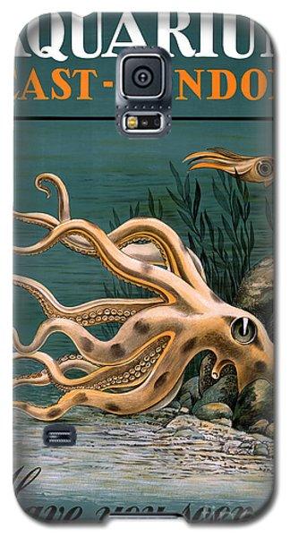 Aquarium Octopus Vintage Poster Restored Galaxy S5 Case