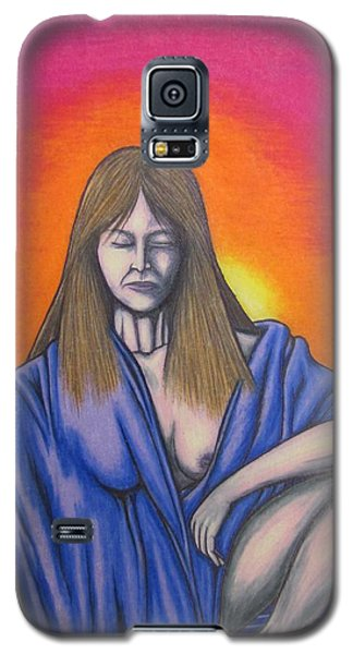 Galaxy S5 Case featuring the drawing Aquarius by Michael  TMAD Finney