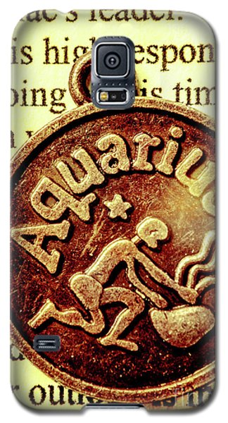 Galaxy S5 Case featuring the photograph Aquarius Zodiac Sign by Jorgo Photography - Wall Art Gallery