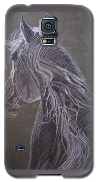 Galaxy S5 Case featuring the drawing Arab Horse by Melita Safran